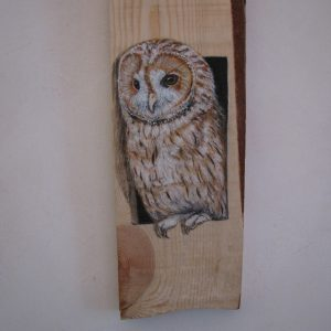 Allocco dipinto su legno