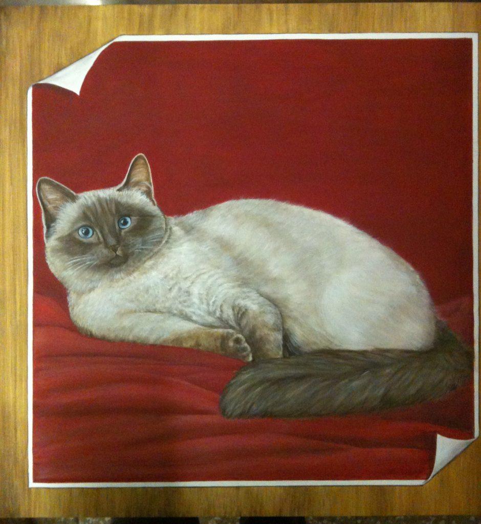 Ritratto di gatto su pannel